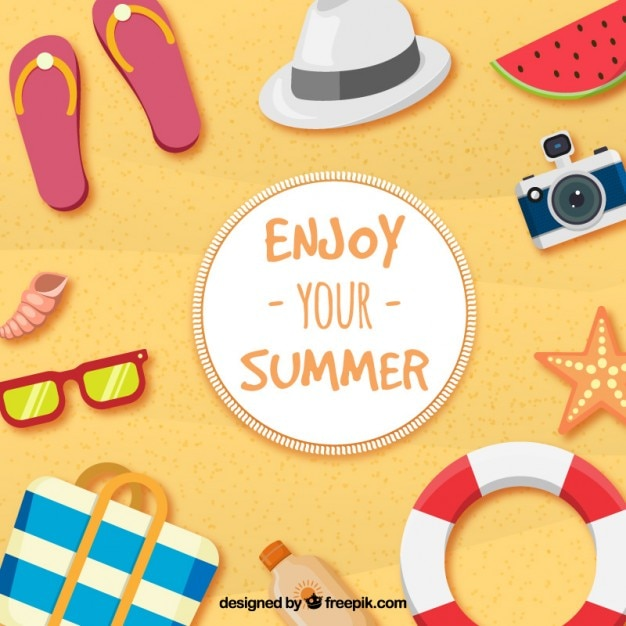Enjoy Your Summer Premium Vector