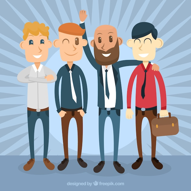 Enjoyable businessmen  Free Vector