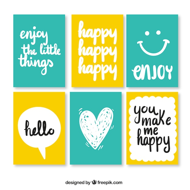 Enjoyable cards  Free Vector