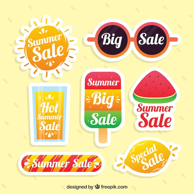 برچسب فروش تابستان لذت بخش