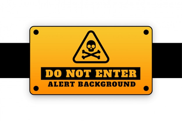 Do not enter background signage attention Free Vector
