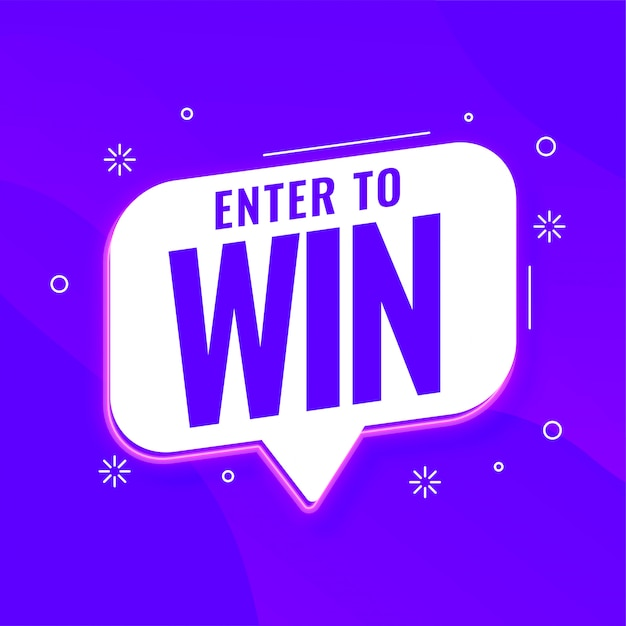 Enter to win purple template for promotions Free Vector
