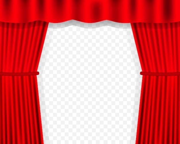 映画のエンターテイメントカーテン。 Premiumベクター