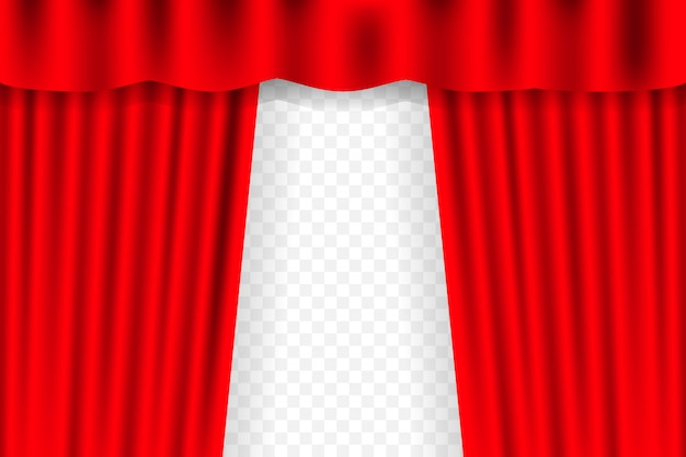 Premium Vector Entertainment Curtains For Movies Beautiful Red Theatre Folded Curtain Drapes On Black Stage Illustration