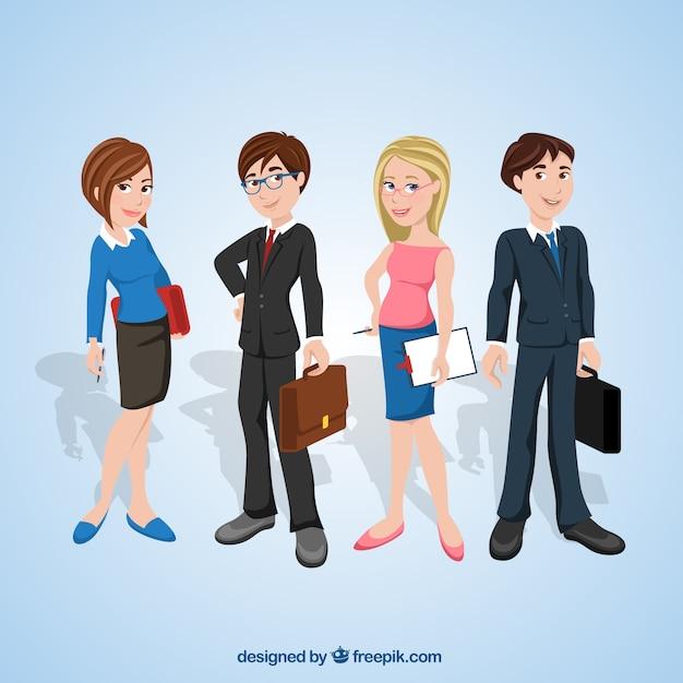 Entrepreneurs illustration Free Vector