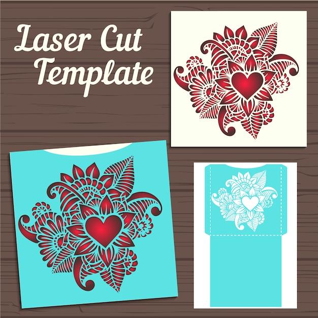Download Vector - Envelope template design - Vectorpicker