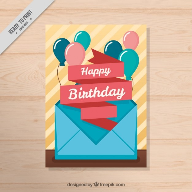 envelope with balloons birthday card stock images page everypixel