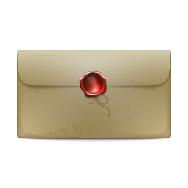 Envelope with wax seal Free Vector