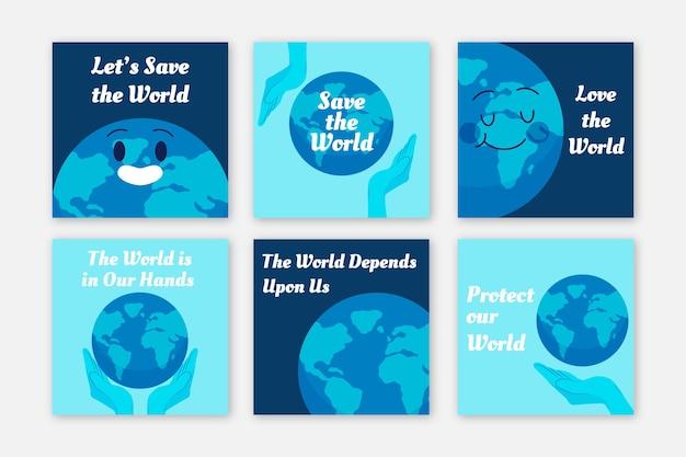 Modello di post instagram di carità ambientale Vettore gratuito