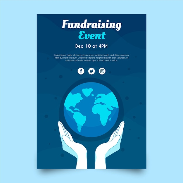 Environment charity poster template Free Vector