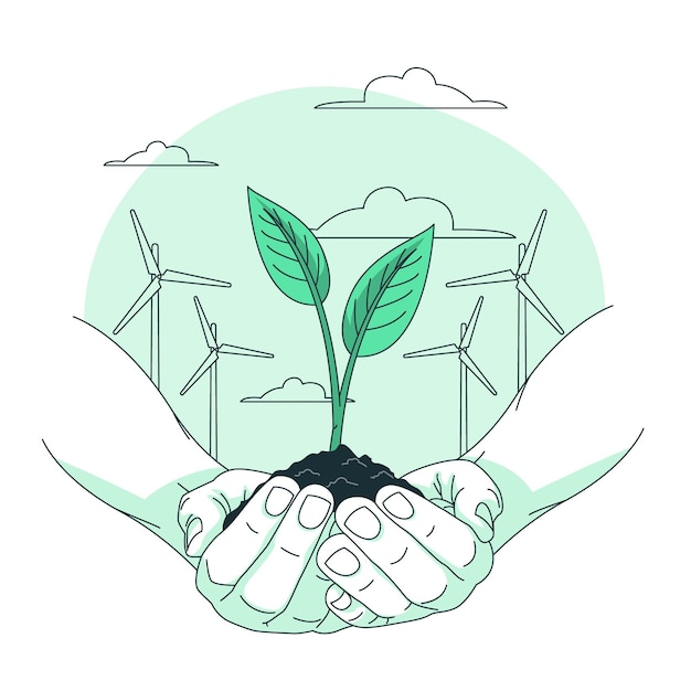 環境概念図 無料ベクター
