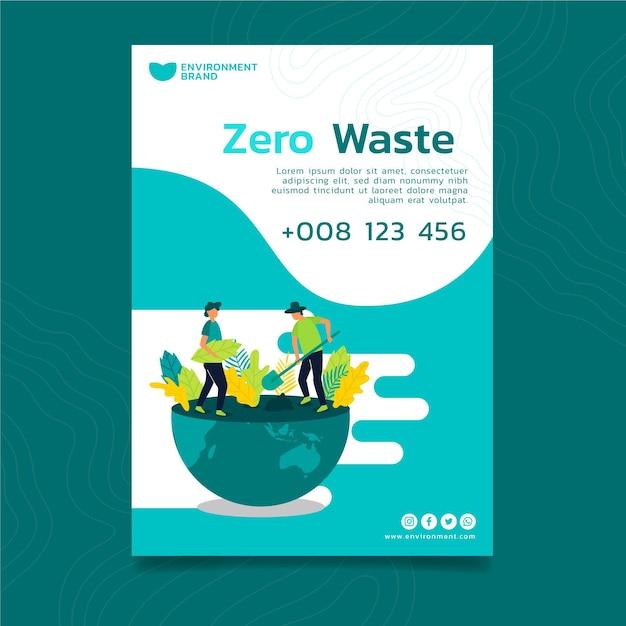 Poster di conservazione dell'ambiente Vettore gratuito