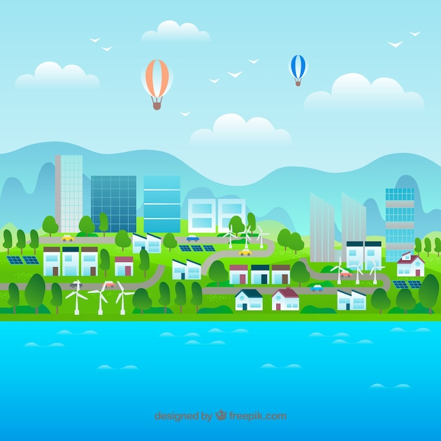 Environment and ecosystem concept Free Vector