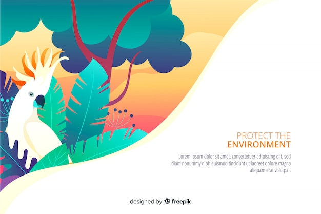 Environment landing page Free Vector