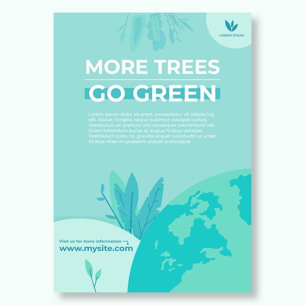 Modello di poster ambientale Vettore gratuito