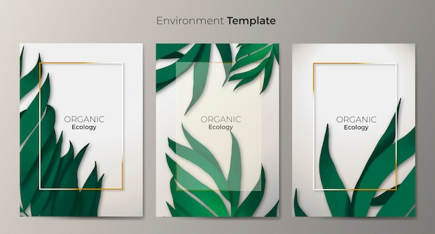 Environment template set Free Vector