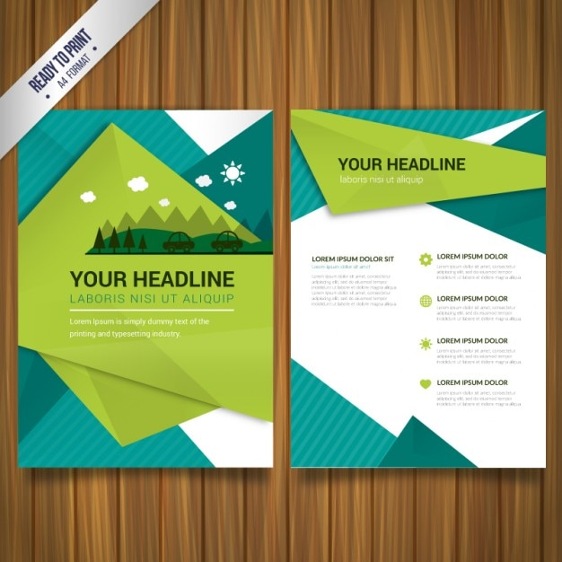 environmental brochure free vector