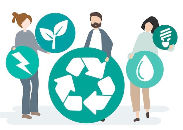 Conservazione ambientale e protezione del nostro mondo Vettore gratuito