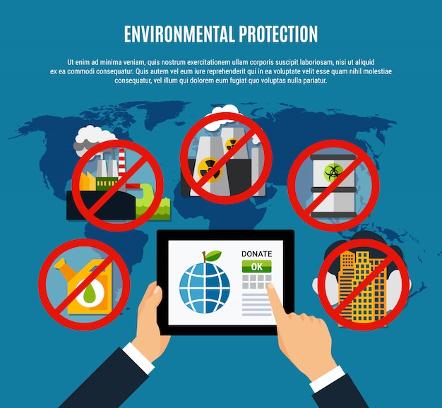 Environmental protection illustration Free Vector