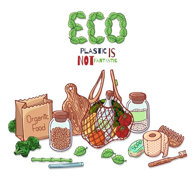 Environmental protection theme Premium Vector