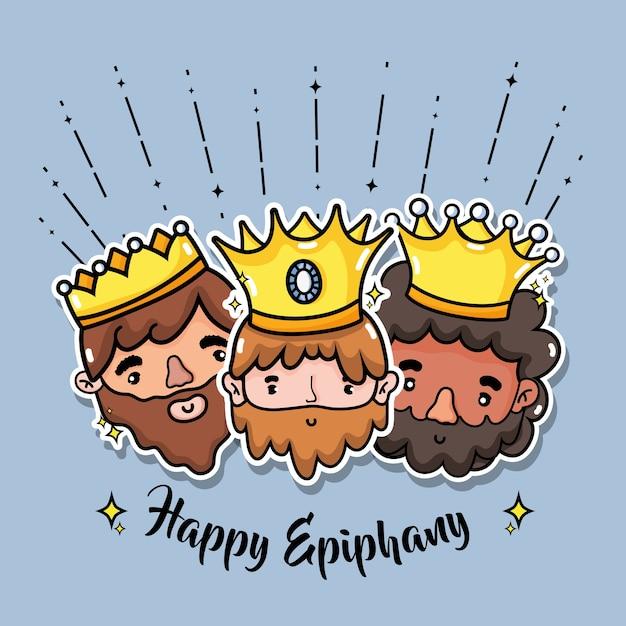 Epiphany catholic holiday celebration design vector illustration Premium Vector