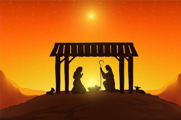 Богоявленские персонажи в свете солнца Бесплатные векторы