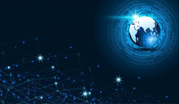 科学技術サイバー未来的なデザインコンセプトの背景eps 10ベクトル Premiumベクター