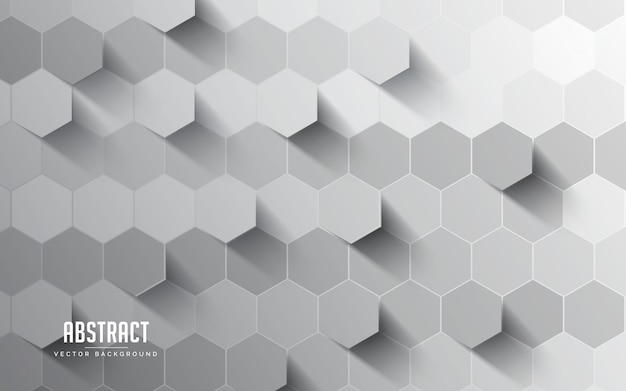Абстрактный фон с шестигранной серый и белый цвет. современный минимальный eps 10 Premium векторы