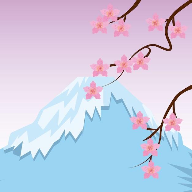 日本の国のデザイン、ベクトルイラストeps10グラフィック Premiumベクター