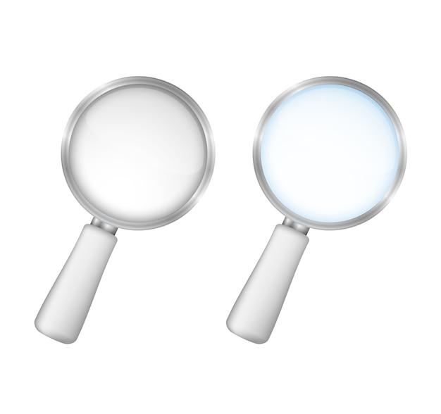白の背景、ベクトルeps10図の虫眼鏡 Premiumベクター