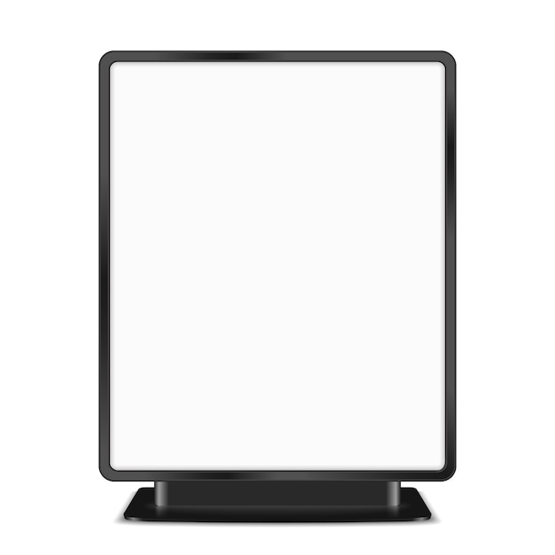 白の背景、ベクトルeps10イラストに黒の看板 Premiumベクター