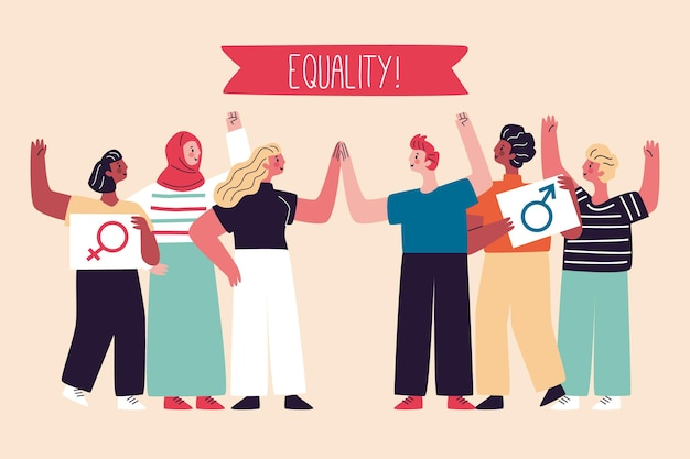 Equality movement discrimination concept Free Vector
