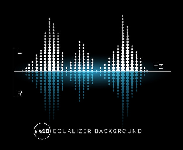 Equalizer digital sound design element Premium Vector