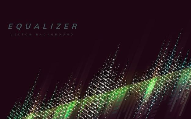 Equalizer lights background Free Vector