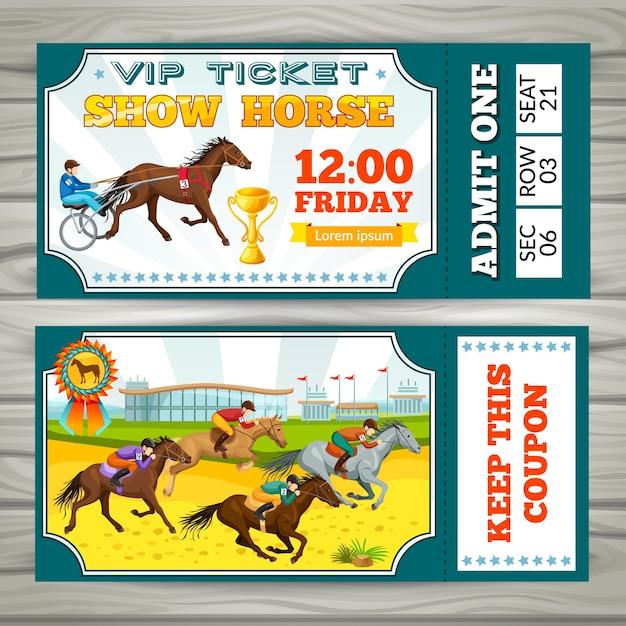 Buono per i biglietti per lo spettacolo equestre Vettore gratuito