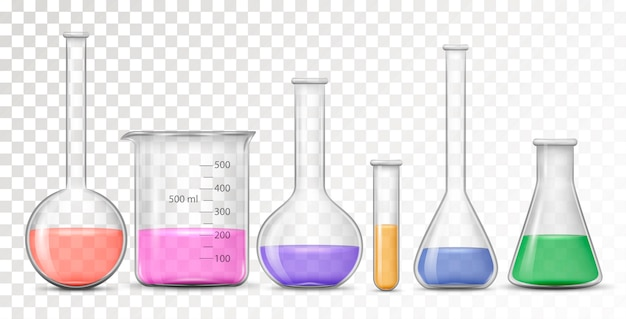 Equipment for chemical lab Premium Vector