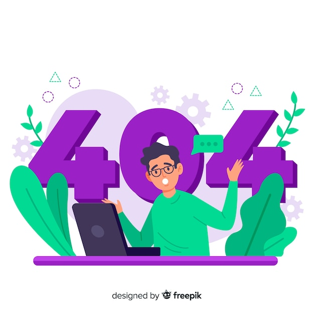 Error 404 concept illustration Free Vector