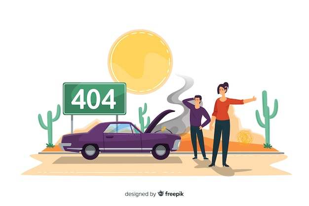 Error 404 concept for landing page Free Vector