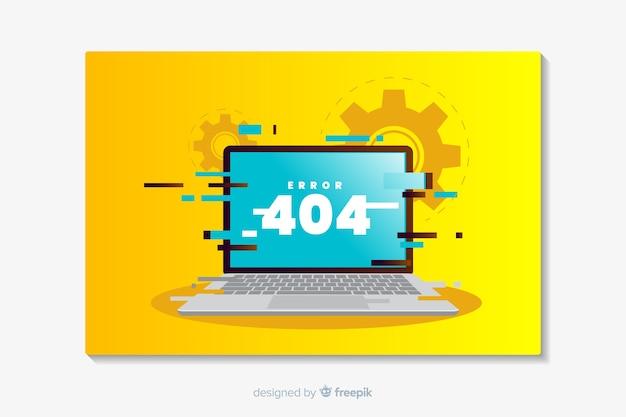 Error 404 landing flat design Free Vector