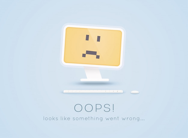 Error 404 page not found. page not found text. oops... looks like something went wrong... Premium Vector