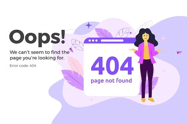 Error 404 unavailable web page. file not found concept Premium Vector