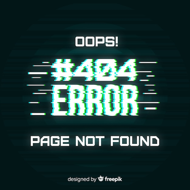 Error 404 Free Vector