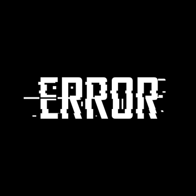 Error glitch effect Premium Vector
