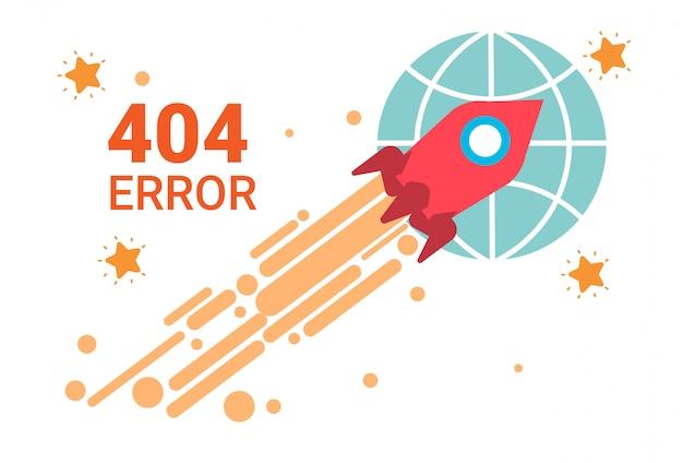 Error icon 404 not found broken message banner Premium Vector