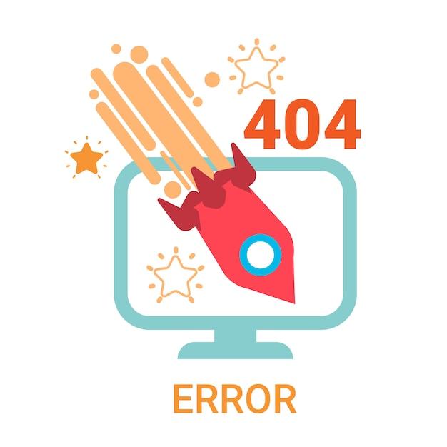 Error icon 404 not found broken message banner Vector