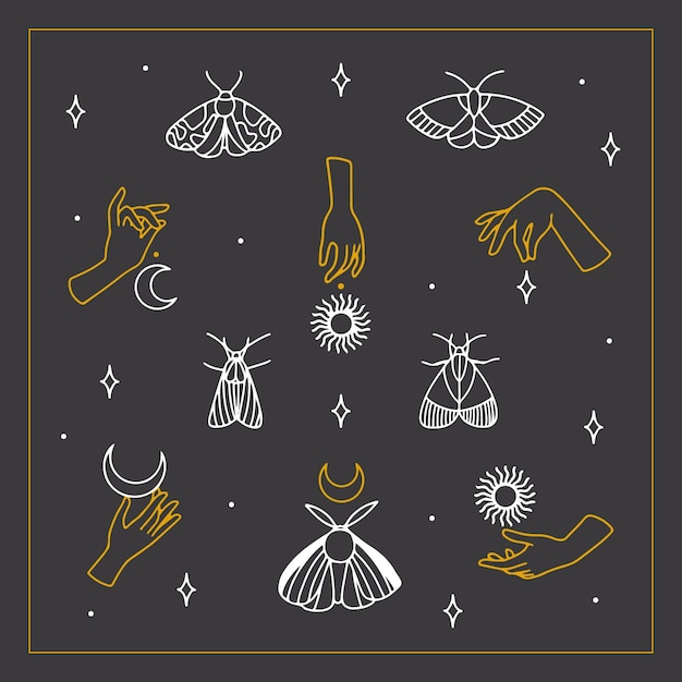 Esoteric elements pack Free Vector