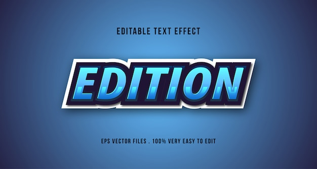 Esport 3d text effect, editable text Premium Vector