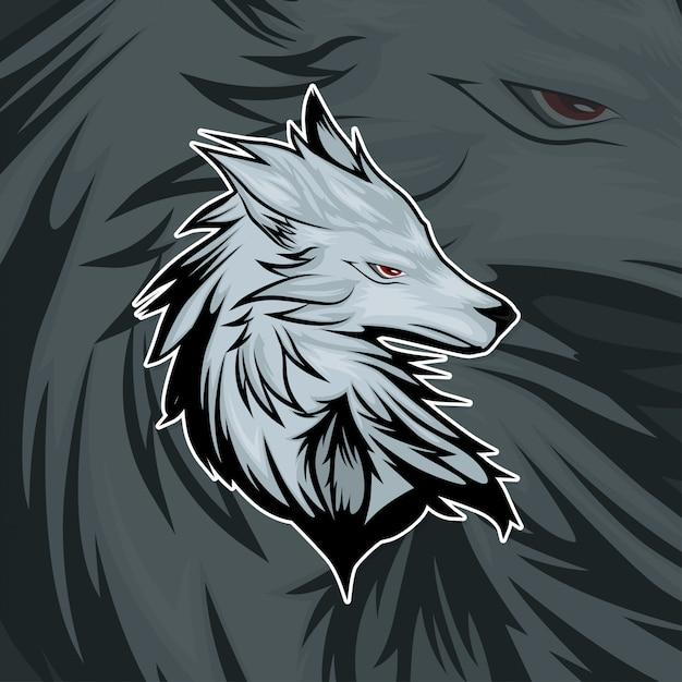 Esport gamer logo wolf Premium Vector