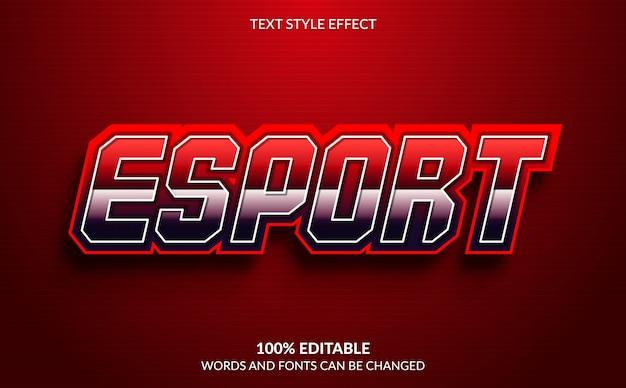 Редактируемый текстовый эффект, esport text style Premium векторы