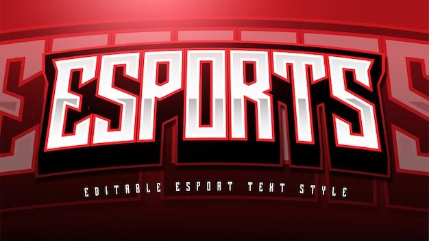 Esport text styleエフェクト Premiumベクター